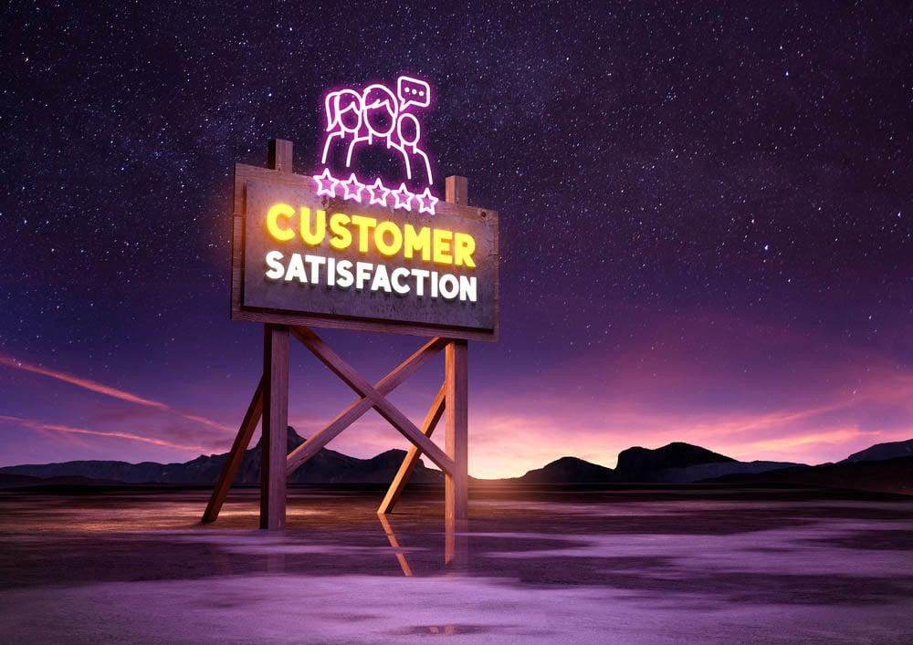 Neon Customer Satisfaction Sign