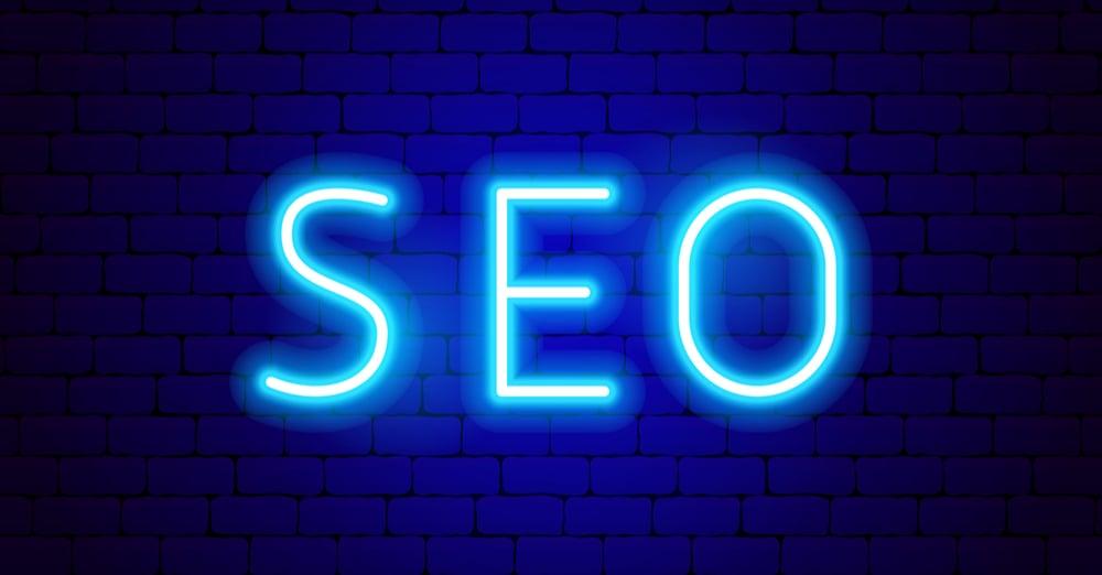 Neon SEO Trust Signals Sign