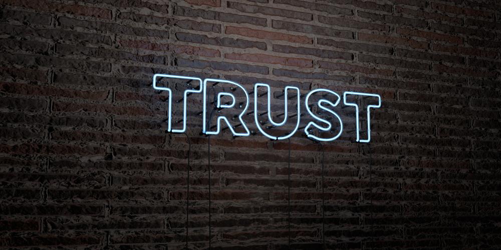 Neon Trust Sign
