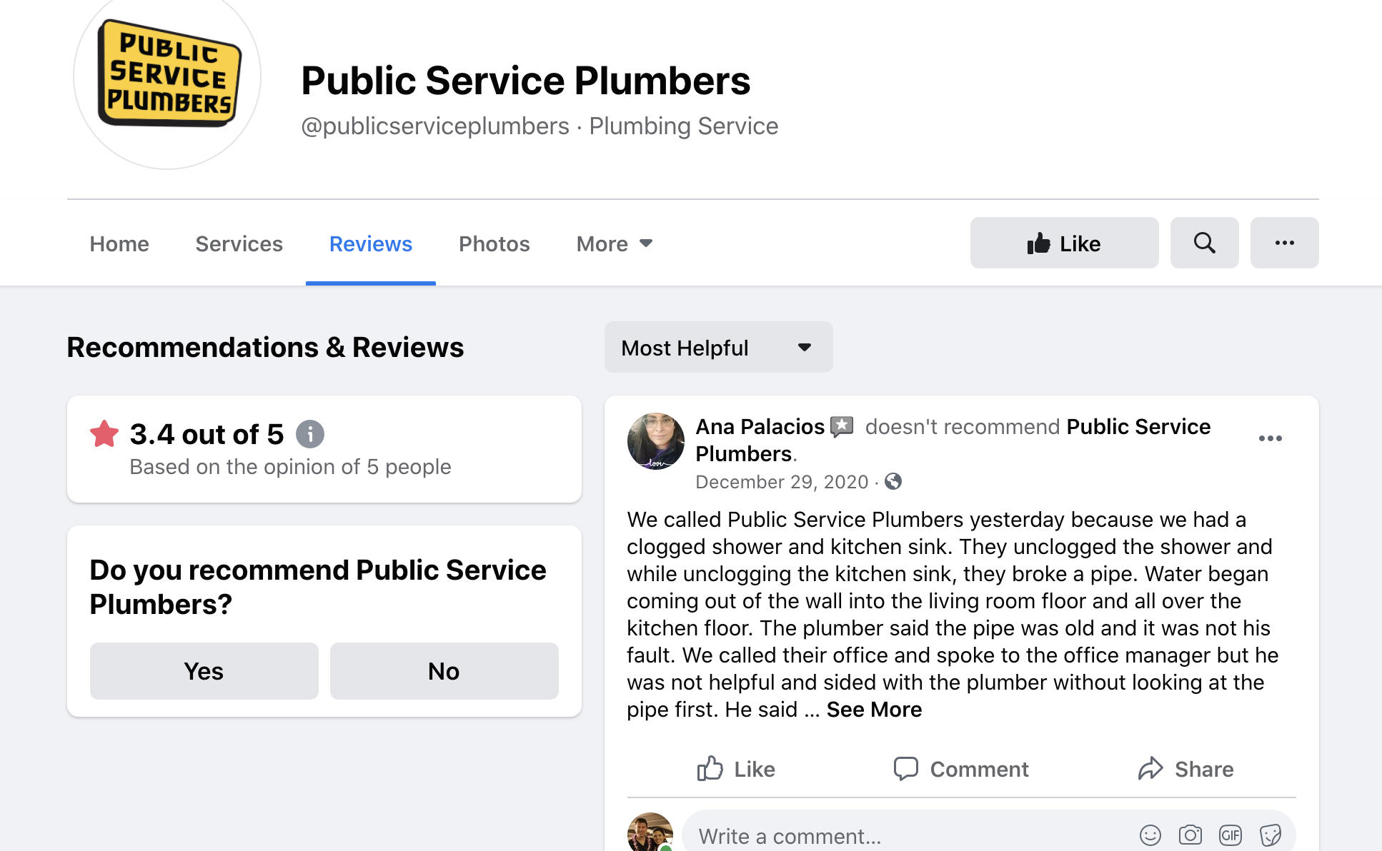Public Service Plumbers 3.4